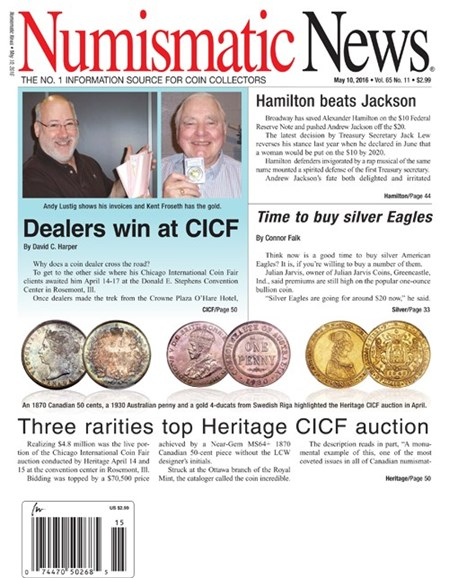 Numismatic News Cover - 5/10/2016