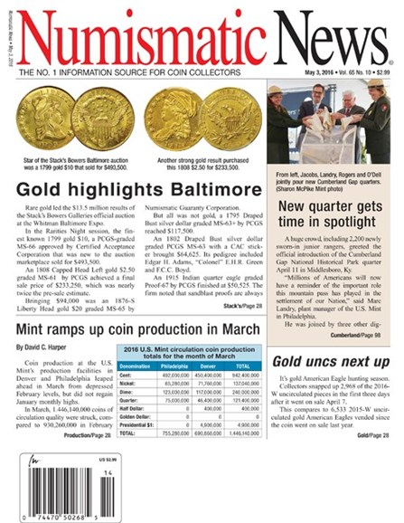 Numismatic News Cover - 5/3/2016