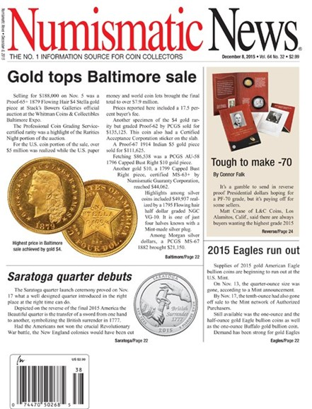 Numismatic News Cover - 12/8/2015