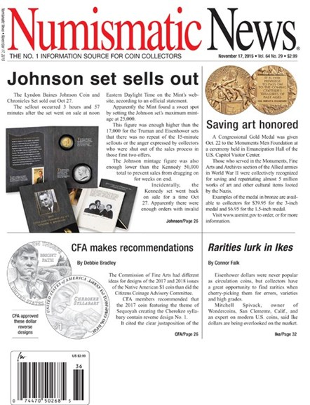 Numismatic News Cover - 11/17/2015