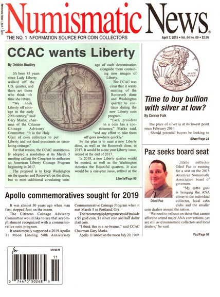 Numismatic News Cover - 4/7/2015