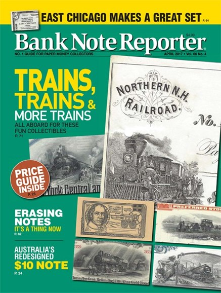 Bank Note Reporter Cover - 4/1/2017