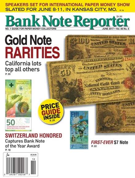 Bank Note Reporter Cover - 6/1/2017