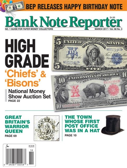 Bank Note Reporter Cover - 3/1/2017
