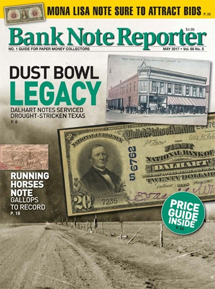 Bank Note Reporter Cover - 5/1/2017