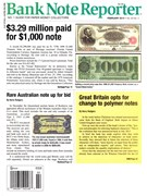 Bank Note Reporter Magazine 2/1/2014