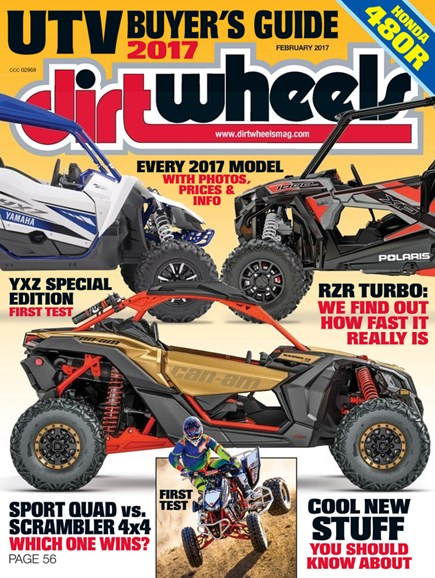 Dirt Wheels Cover - 2/1/2017