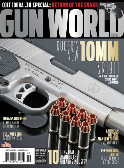 Gun World Cover - 9/1/2017