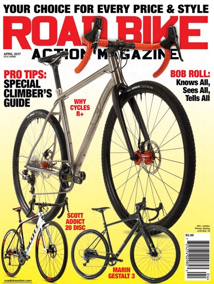 Road Bike Action Cover - 4/1/2017
