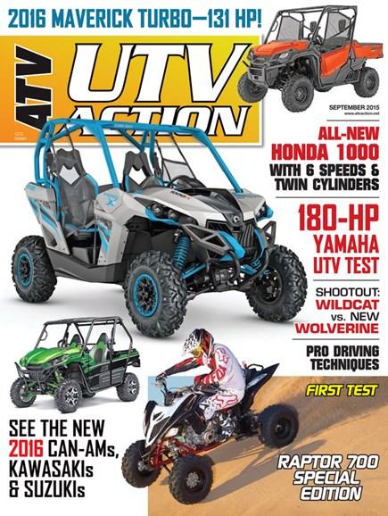 UTV Action Cover - 9/1/2015