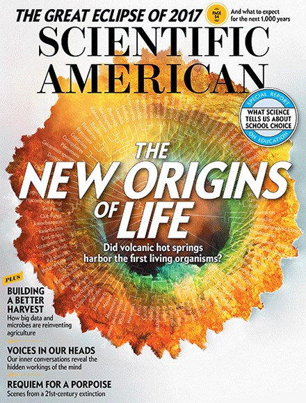 Scientific American Cover - 8/1/2017