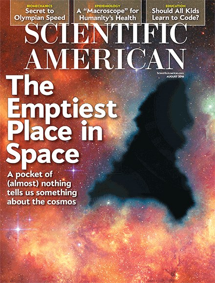 Scientific American Cover - 8/1/2016