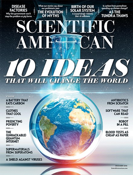 Scientific American Cover - 12/1/2016