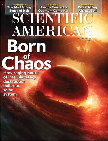 Scientific American Cover - 5/1/2016