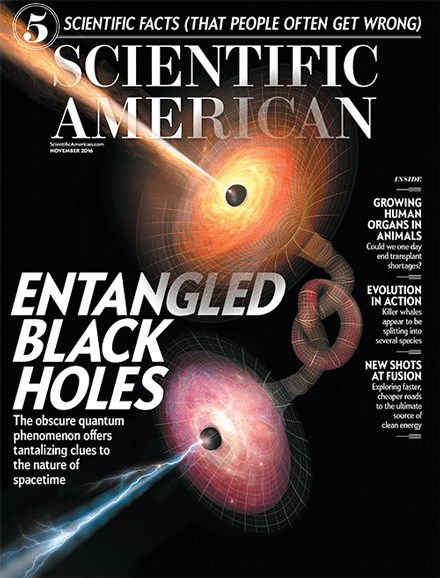 Scientific American Cover - 11/1/2016