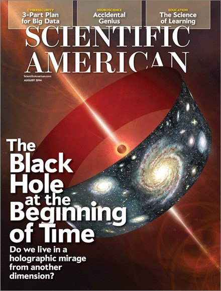 Scientific American Cover - 8/1/2014