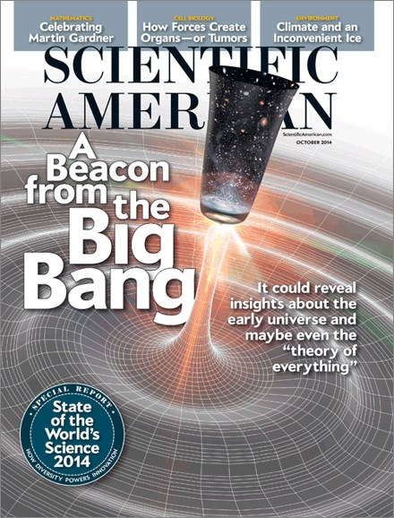 Scientific American Cover - 10/1/2014
