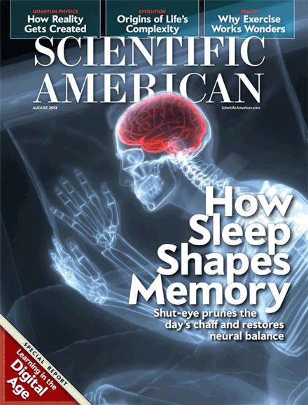 Scientific American Cover - 8/1/2013