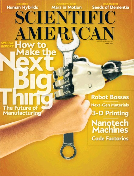 Scientific American Cover - 5/1/2013