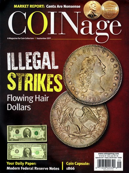Coinage Cover - 9/1/2017