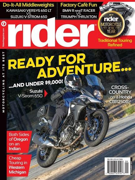 Rider Cover - 9/1/2017