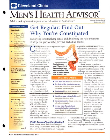 Men's Health Advisor Cover - 9/1/2017