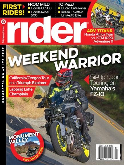 Rider Cover - 7/1/2017