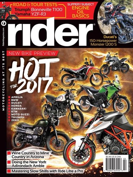 Rider Cover - 2/1/2017