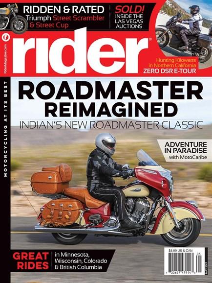 Rider Cover - 5/1/2017