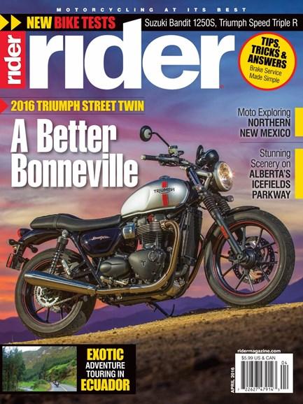 Rider Cover - 4/1/2016