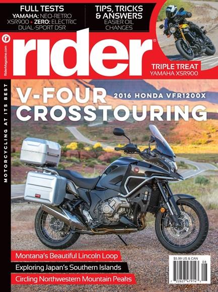 Rider Cover - 8/1/2016