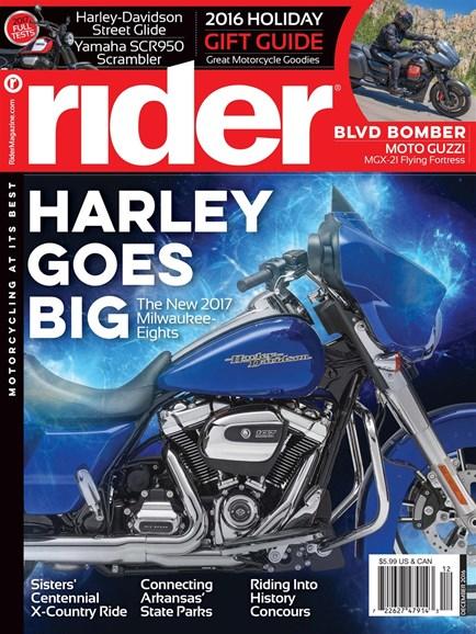 Rider Cover - 12/1/2016