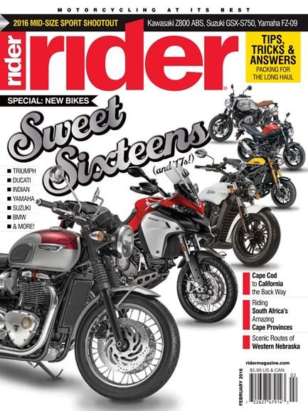 Rider Cover - 2/1/2016