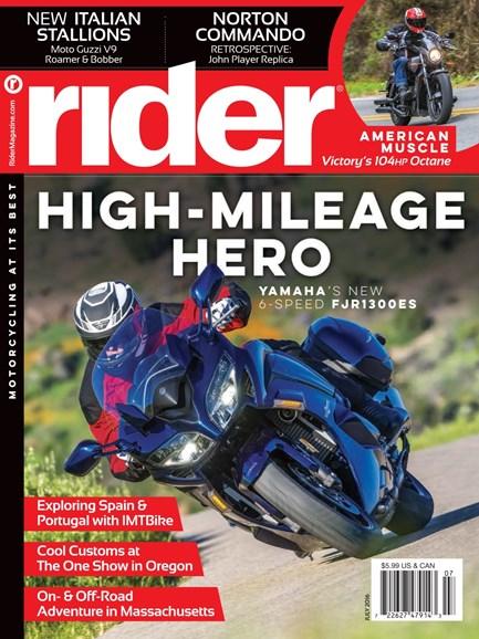 Rider Cover - 7/1/2016