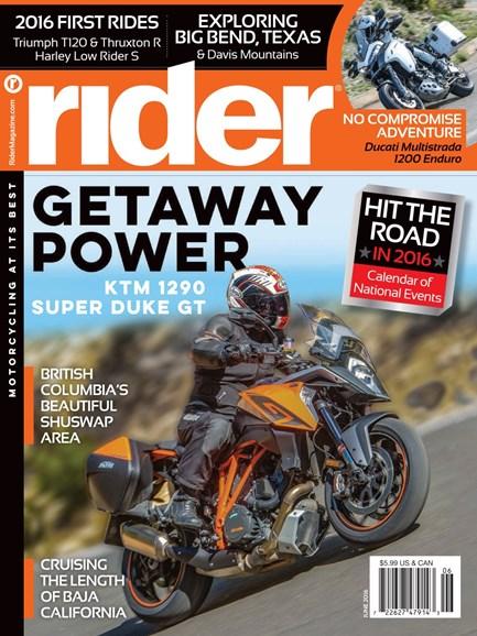 Rider Cover - 6/1/2016
