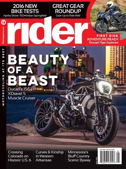 Rider Cover - 5/1/2016