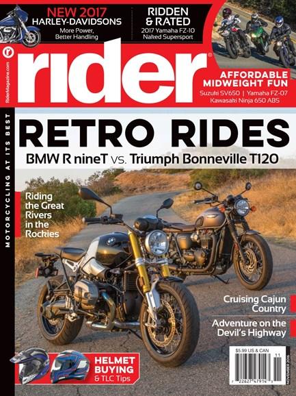 Rider Cover - 11/1/2016