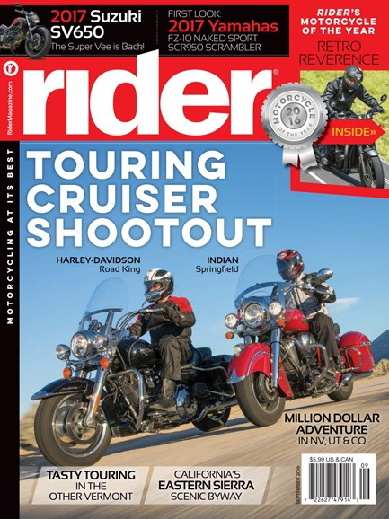 Rider Cover - 9/1/2016
