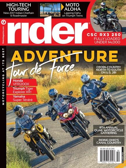 Rider Cover - 10/1/2016