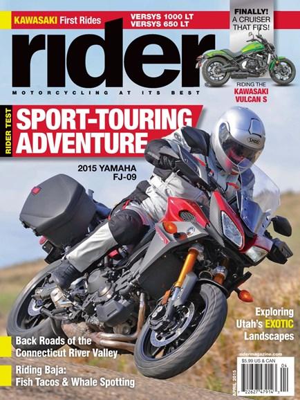 Rider Cover - 4/1/2015