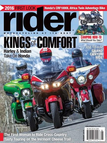 Rider Cover - 8/1/2015