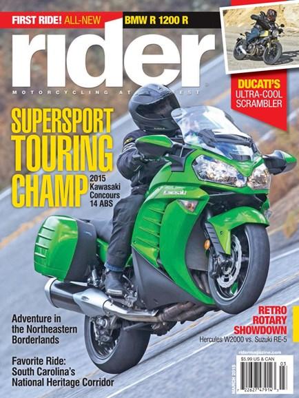 Rider Cover - 3/1/2015