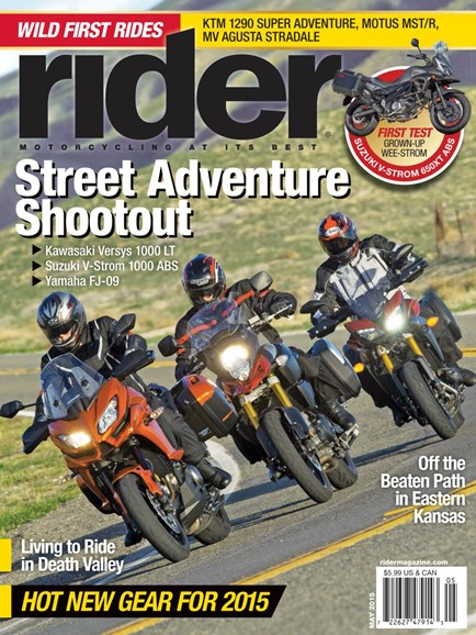 Rider Cover - 5/1/2015
