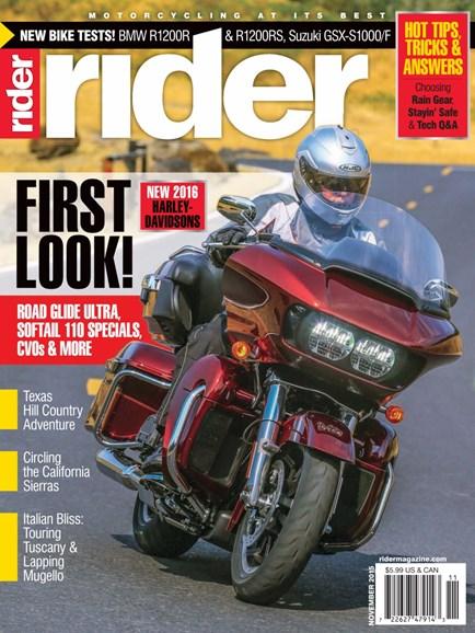 Rider Cover - 11/1/2015