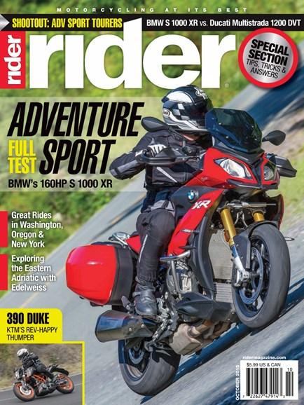 Rider Cover - 10/1/2015