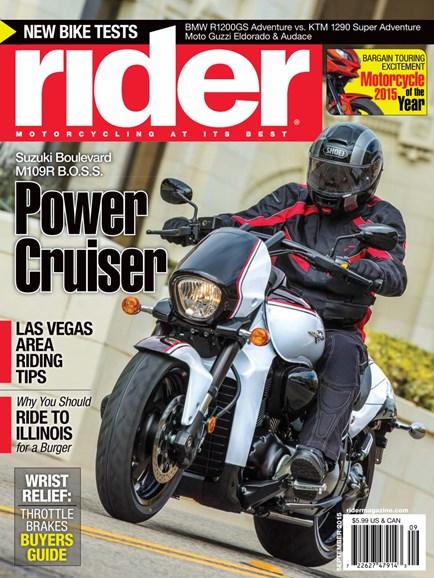 Rider Cover - 9/1/2015