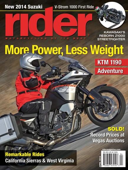Rider Cover - 4/1/2014