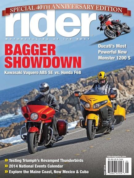Rider Cover - 5/1/2014