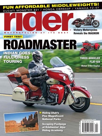 Rider Cover - 10/1/2014