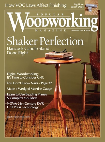 Popular Woodworking Cover - 12/1/2016